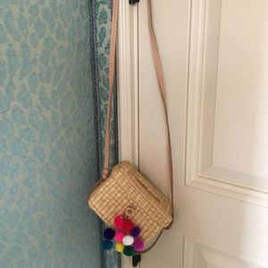 Brand new Nanacay straw bag with leather strap